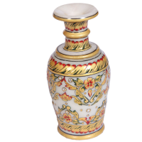 Marble Meenakari Hand Crafted Golden Flower Vase Online