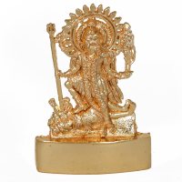 A graceful statue of maa kali made from brass