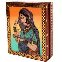 Aapno Rajasthani Bani Thani Wooden Gemstone Jewellery Box