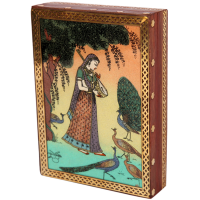 Rajasthani Ragini Gujari Wooden Gemstone Jewellery Box
