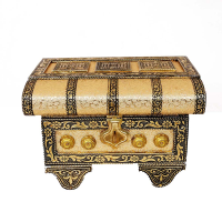 Beautifully engraved hard top resin jewellery box