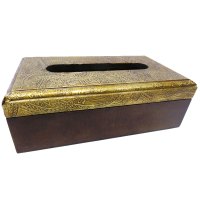 Brass Wooden Handicrafts Tissue Paper Box As Indian Gifts