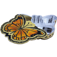 Butterfly Shaped Dry Fruit Box Crafted Of Marble Meenakari