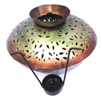 Brass Crafted Matki Shaped Decorative Candle Holder Online