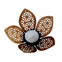 Carved decorative candle in the shape of flower