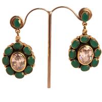 Peacock shaped earrings