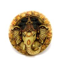Circular Marble Showpiece Ganesha