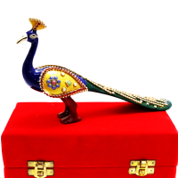 Creative Art Work On A Peacock Showpiece
