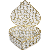 Designer Jewellery Box in Crystal & Metal