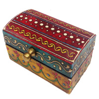 Designer Multicolor Wooden Embossed Box