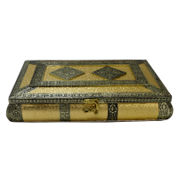 Wooden Dry fruit Storage box with Brass carvings