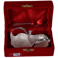 Duck Shaped German Silver Utility Tray As Indian Gifts