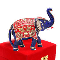 Entirely Designed Elephant Showpiece