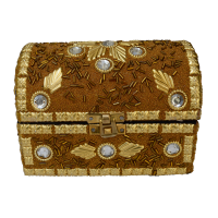 Wooden Rajasthani Jewellery Box (Pitari) Embed With Stones