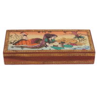 Excuisite Gemstone Painted Wooden Jewellery Box