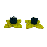 Flower Petal Shaped Green Incense Stick Holder