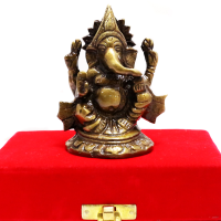 Ganesh Idol Made Of Brass For Prosperity