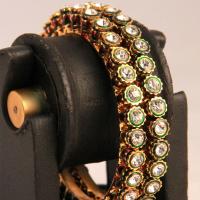 Glittering brassed bangles