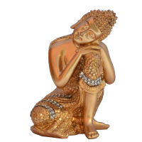 Gold Dhyan Pose Buddha Statue In Resin