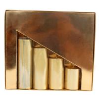 Golden decorative candle hamper