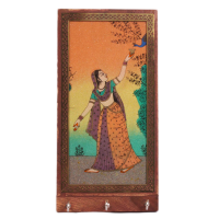 Gorgeous Rajasthani Gemstone Painted Key Holder