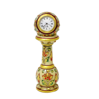 Hand Painted Marble Pillar Clock