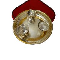 German Silver Pooja Thali