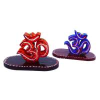 Holistic & Colourful Om Incense Stick Holder Pair