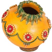 Kundan minakari matki with lid