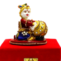 Little Kanha The Makhan Chor Made Of Metal