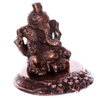 Brown hued Metal made Lord Ganesha for Pagdi
