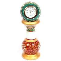 Marble Meenakari Handicraft Pillar Watch Online As Indian Gift