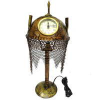 Ornamental Brass Handicraft Table Clock & Night Lamp Online