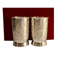 Ornate German Silver Glass Set For Wedding Favors