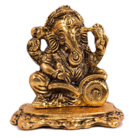 Oxidised Golden coloured Ganesh Idol for Sale