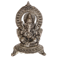 Oxidized Chowki Embossed Lord Ganesh Online As Divine Gift