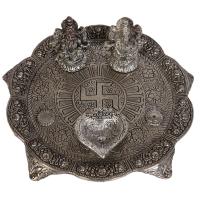Oxidized Diwali Pooja Thali Handmade Laxmi Ganesh Online