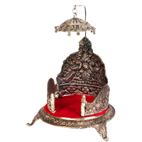 Oxidized Handicraft Singhasan With Chatra For Pooja Online