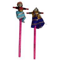 Pencil Pair with Rajasthani Bani Thani on Top For Gifting