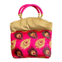 Multicoloured Clutch Bag with Traditional Design