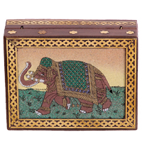 gemstone elephant jewellery box