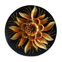 Round Golden Flower Wall Décor