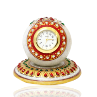BULK ENQUIRY ADD TO CART Round Marble Table Clock