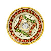 Round Marble Thali Clock