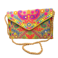 Embroideried Sling Bag with Beautiful Purse