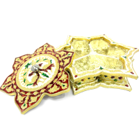 Star Shaped Marble Meenakari Crafted Dry Fruit Gift Box