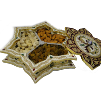 Wooden gift box with meena work cover