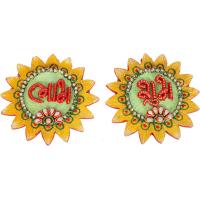 Kundan Craft Sun Shaped Subh Labh Door Toran Online