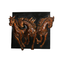 Triple Horse Wall Décor