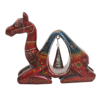 Wooden Camel With Iron Bell